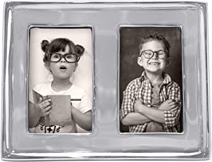 MARIPOSA Signature Picture Frame, Double 2x3, Silver