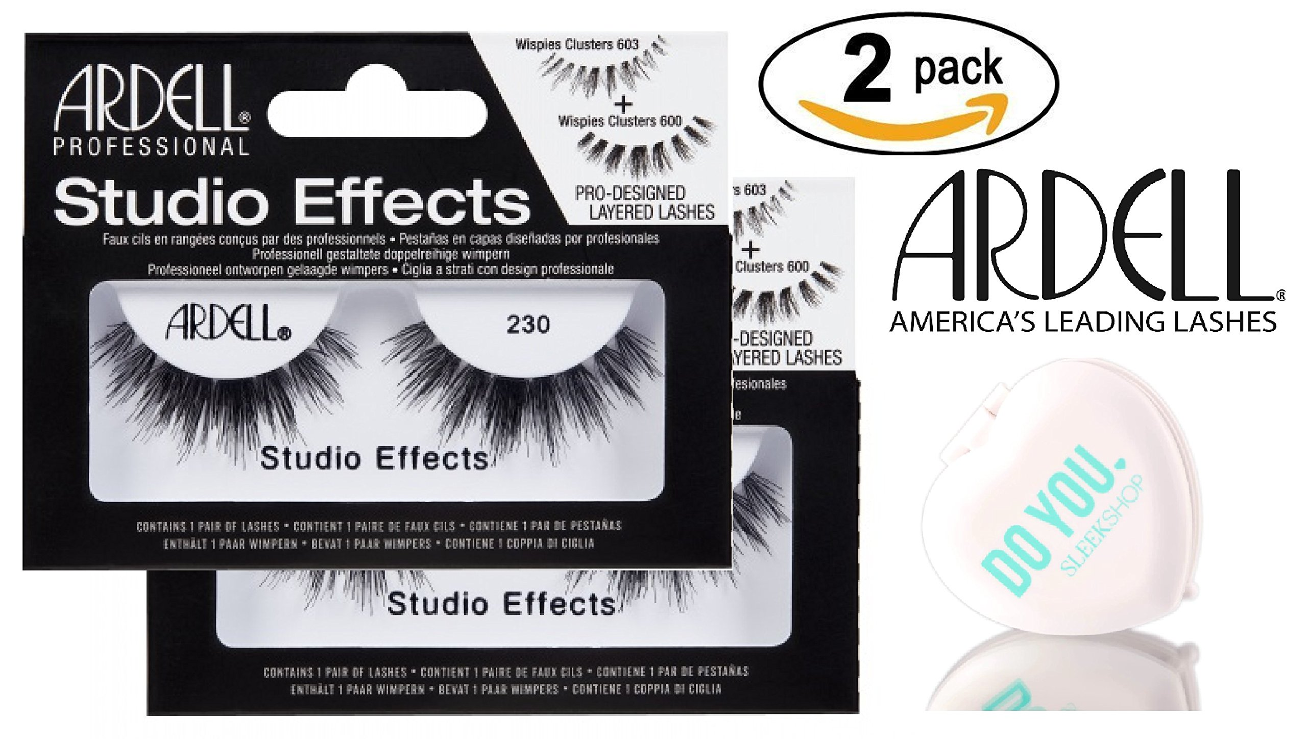 b4c5da854c0 Ardell Professional STUDIO EFFECTS Custom Layered Lashes, 2-pack (with  Sleek Compact Mirror