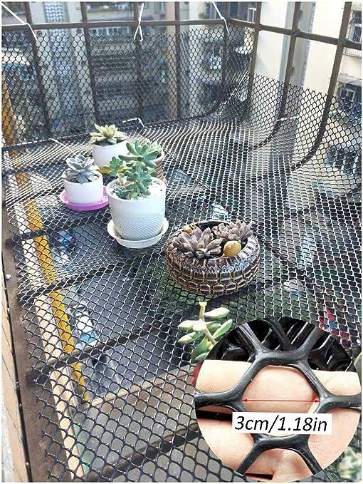 Niño Cubierta Balcón Y Escalera De Red De Seguridad Protección Cat Net - Barandilla De Escalera Net - Seguridad De Los Niños;Seguridad For Mascotas; Escaleras Protector - Negro: Amazon.es: Productos para mascotas