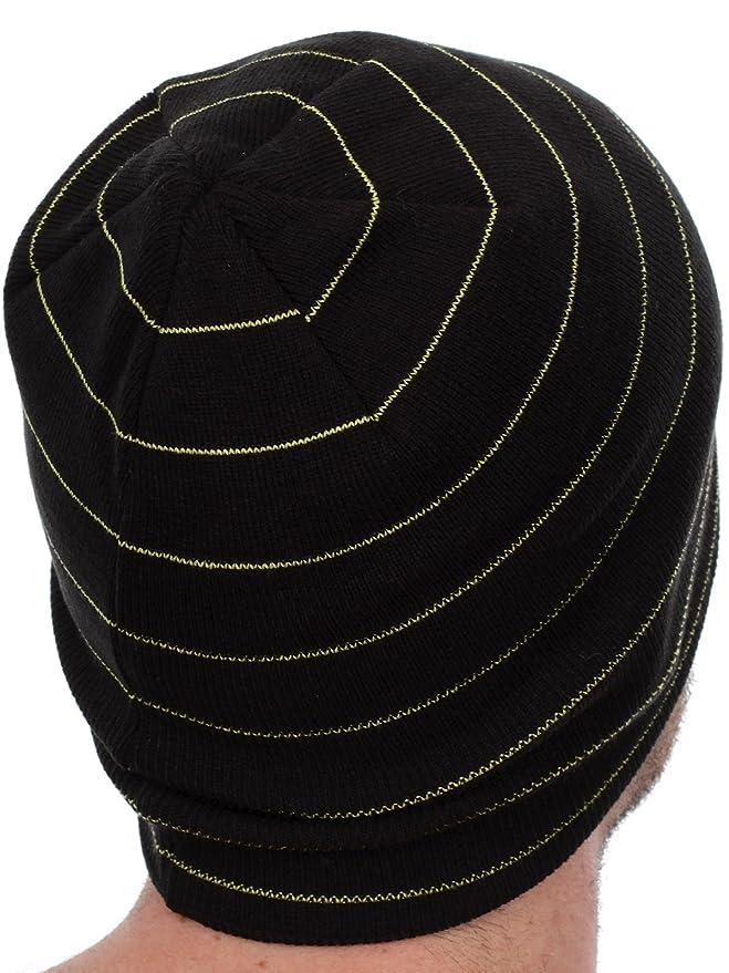032bdbc2765972 Rockstar Energy Drink Men's One Industries Stripes Beanie Hat Cap - Black:  Amazon.in: Clothing & Accessories