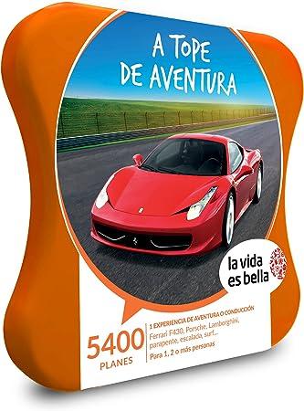 LA VIDA ES BELLA - Caja Regalo hombre mujer pareja idea de regalo - A tope de aventura - 5400 planes como conducción Ferrari, rafting, parapente, ...