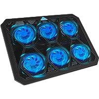 TECKNET Base de Refrigeración Gaming Ordenador Portátil hasta 19 Pulgadas, 6 Ventiladores Silenciosos y Potencias con…