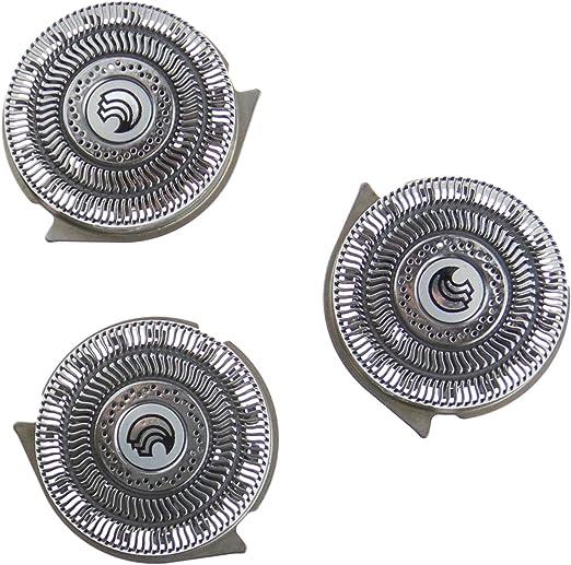 D2D - 3 Cabezales de Afeitado de Repuesto para Cuchillas de Afeitar Philips HQ8 HQ9: Amazon.es: Hogar