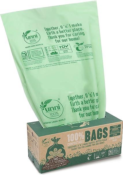 Amazon.com: UNNI - Bolsas 100% compostables, 30 – 33 litros ...