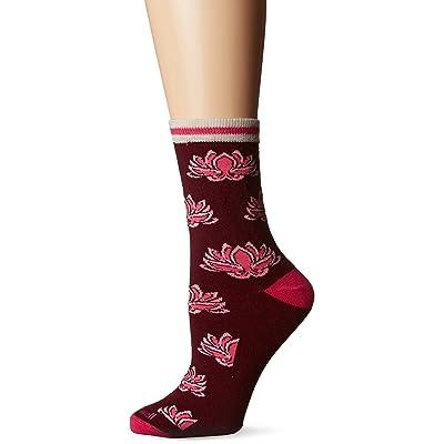 Sockwell Women's Lotus Low Profile Crew Socks: Clothing