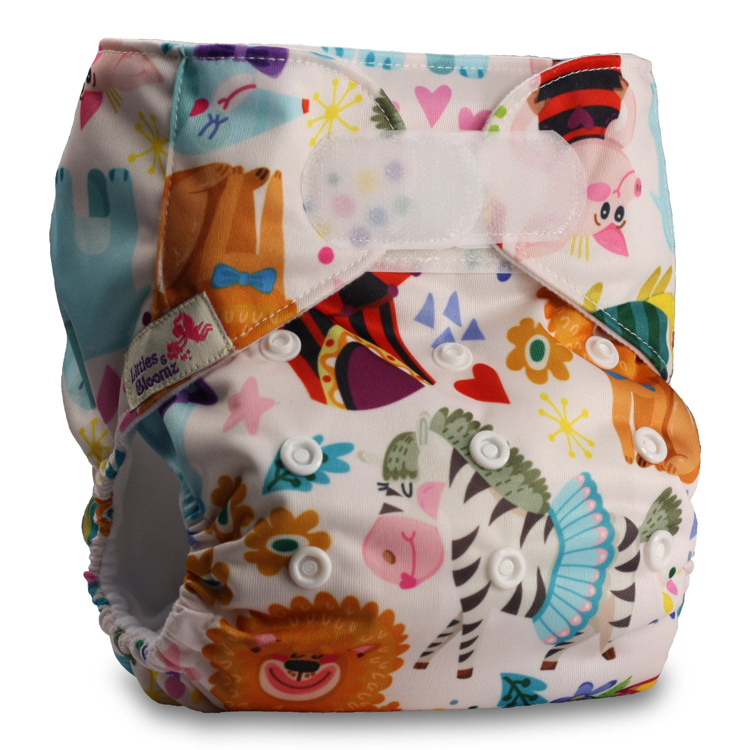 with 1 Microfibre Insert Baby Cloth Washable Reusable Nappy Pocket Diaper Bamboo Fastener: Hook-Loop Littles /& Bloomz Pattern 45