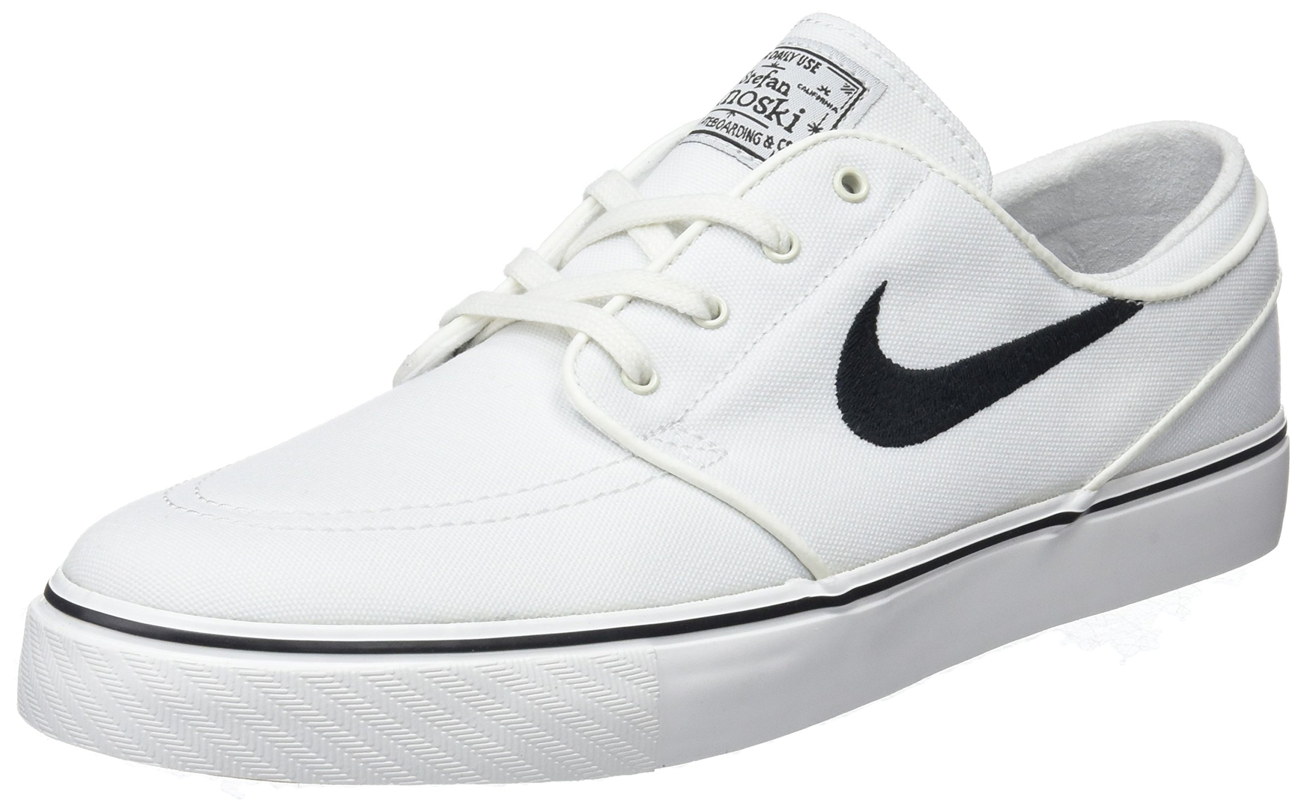Nike Men's Zoom Stefan Janoski Cnvs Summit White/Black Skate Shoe 11