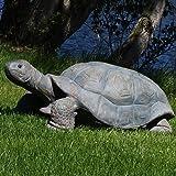 Sunnydaze Todd the Tortoise Indoor/Outdoor Garden Statue, 30 Inch Long