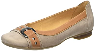 d7862e8874 Gabor Indiana, Women's Ballet Flats, Brown (Taupe Nubuck/Brown Leather Trim)