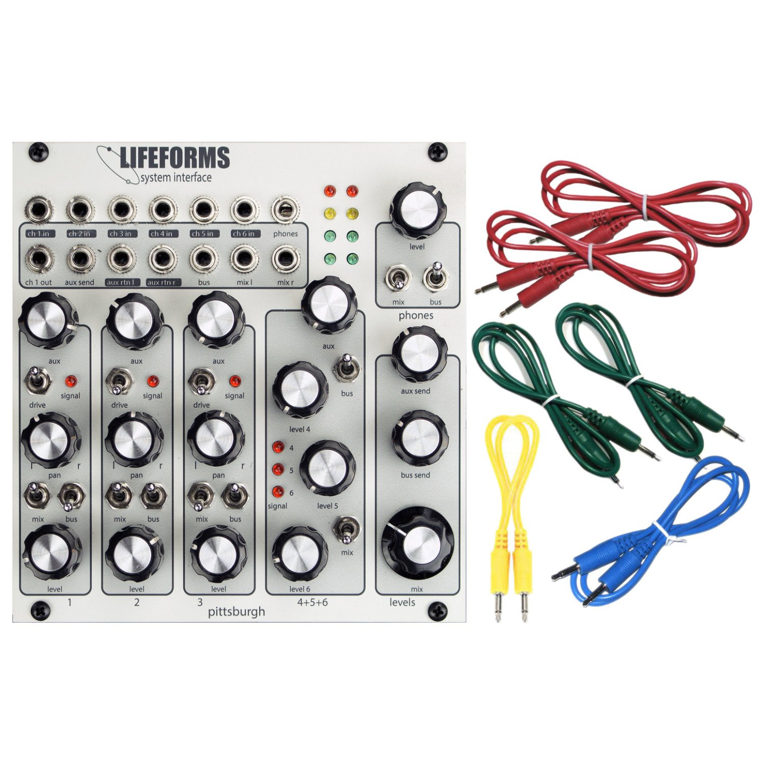 Pittsburgh Modular Lifeforms System Interface Performance Mixer Eurorack Synth Module w/ 6 Cables by Pittsburgh Modular (Image #1)