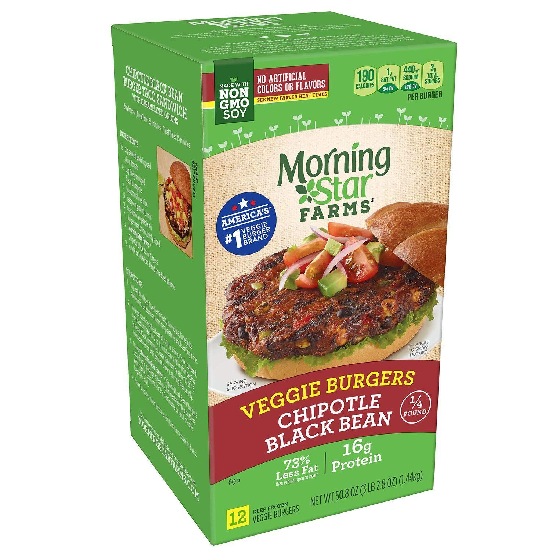 MorningStar Farms Chipotle Black Bean Burger (12.60 lb.)