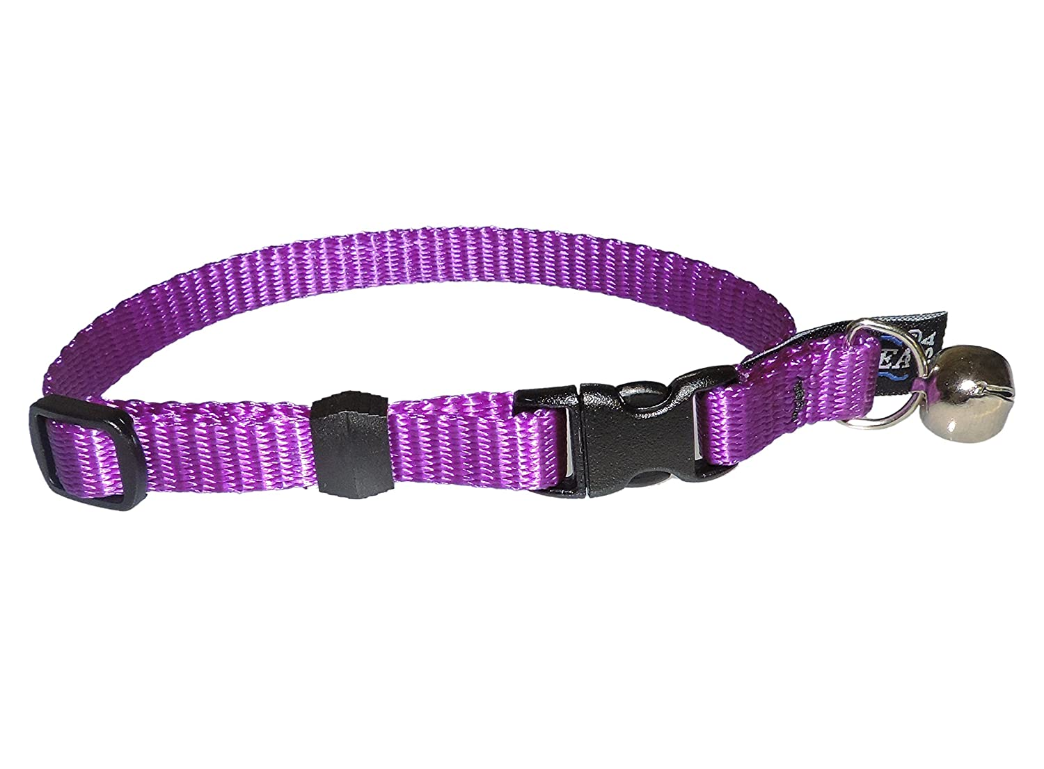 Purple Cetacea Safety Quick Release Cat Collar with Bell, Purple