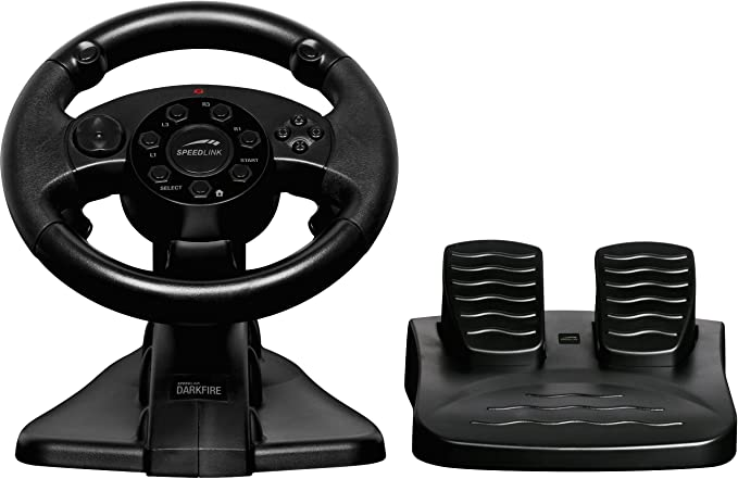 4 opinioni per PlayStation 3, PlayStation 2, PC- Darkfire Racing Wheel [Edizione : Germania]