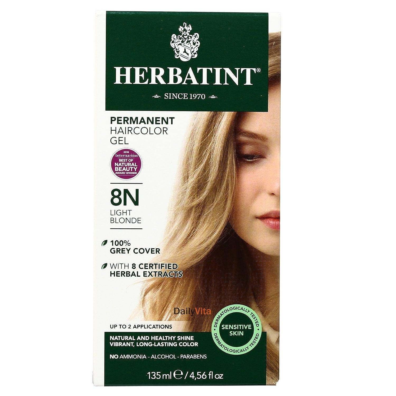 Herbatint Permanent Herbal Haircolour Gel 8N Light Blonde -- 135 mL - 2pc