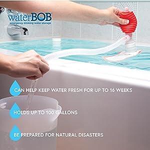 WaterBOB Bathtub Emergency Water Storage Container