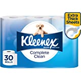 KLEENEX Complete Clean Toilet Tissue, 30 Rolls, 180 Sheets Per Roll, 30 x 1 Pack