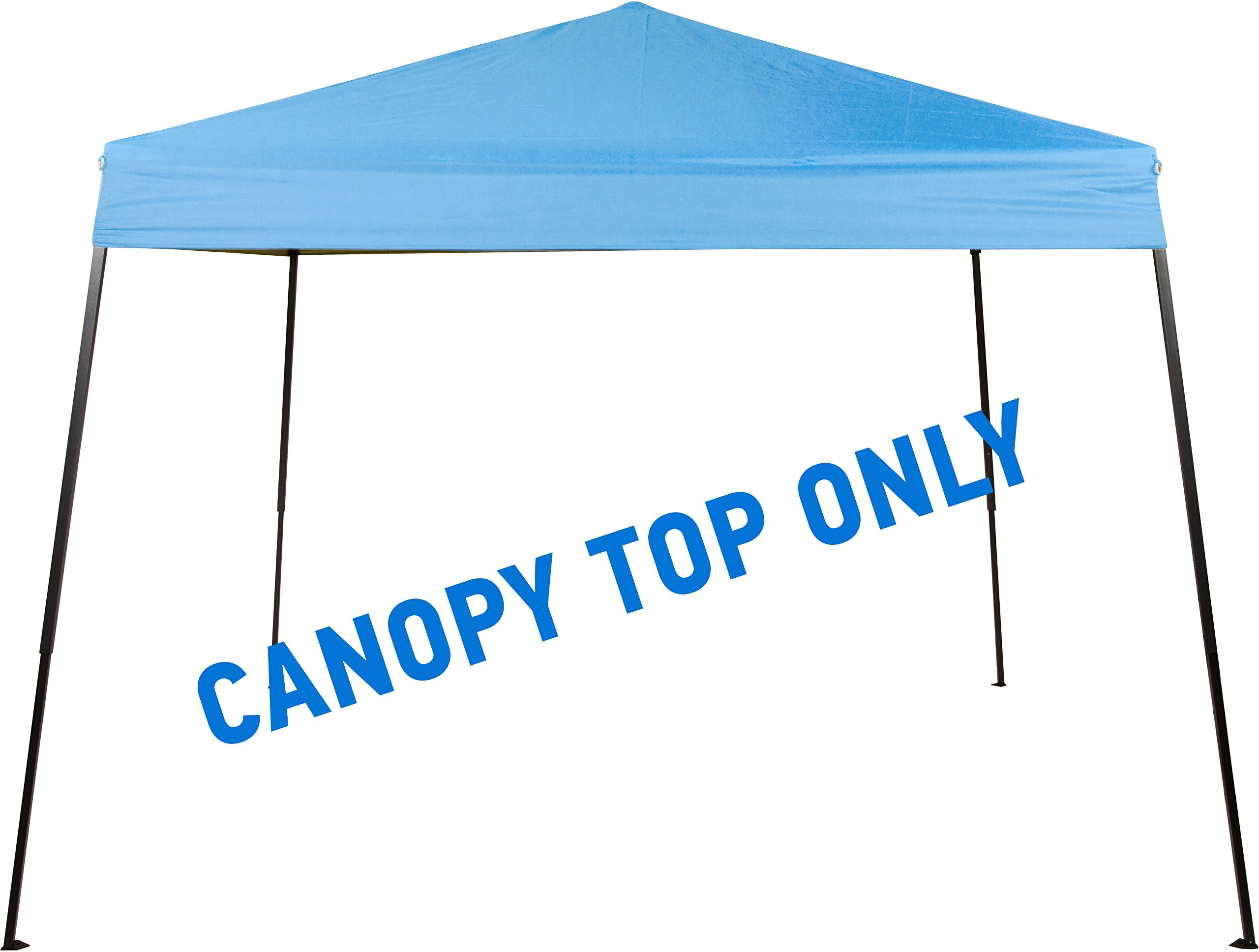 Trademark Innovations Square Replacement Canopy Gazebo Top for 10' Slant Leg Canopy - 8' x 8' - By (Light Blue)