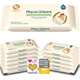 Toallitas higiénicas Aqua Wipes, (Caja de 12 paquetes (Toallitas 768 en total)