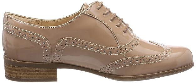 Clarks Hamble Oak, Zapatos de Cordones Brogue para Mujer, Beige (Nude Patent), 41.5 EU
