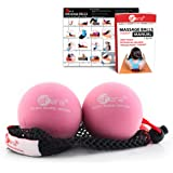 sFera Yoga Therapy Massage Balls, Deep Tissue, Trigger Point and Myofascial Release. 2 (2.5 inch) Med/Soft Balls w/mesh Bag, (RLZ1 MED - Pink)