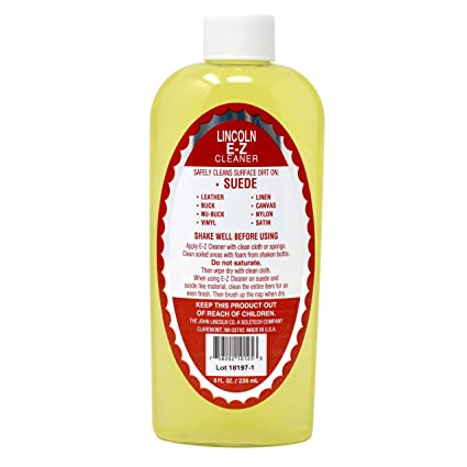 0f62ee8c7141 Lincoln E-Z Cleaner Suede Nubuck Satin Leather Nylon Fabric Shoe Cleaner 8  oz.