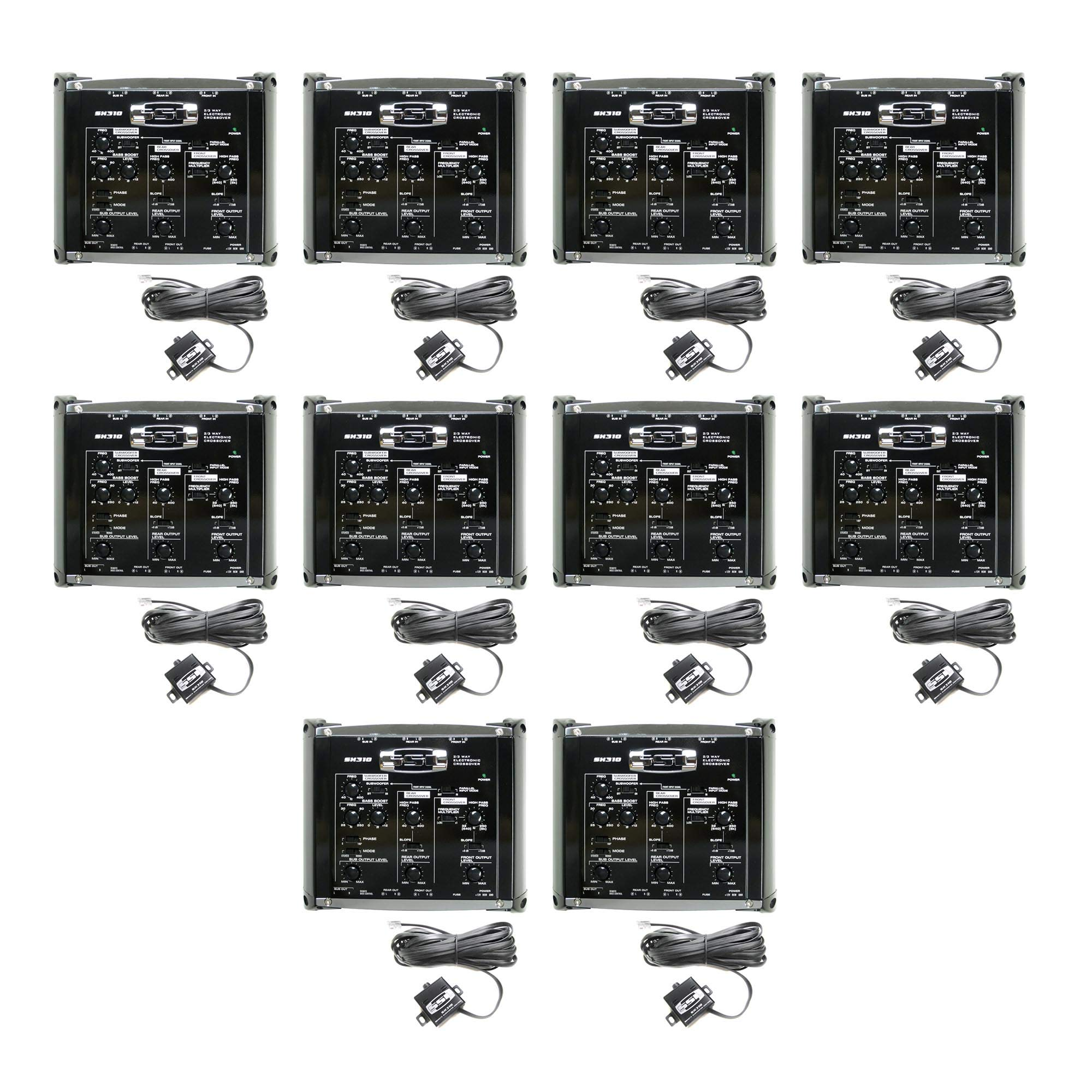 Soundstorm SX310 2/3 Way Electronic Crossover Car Crossover Bass Audio+Remote (10 Pack)