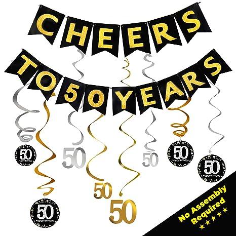 Amazon.com: Decoraciones de 50 cumpleaños para mujeres y ...
