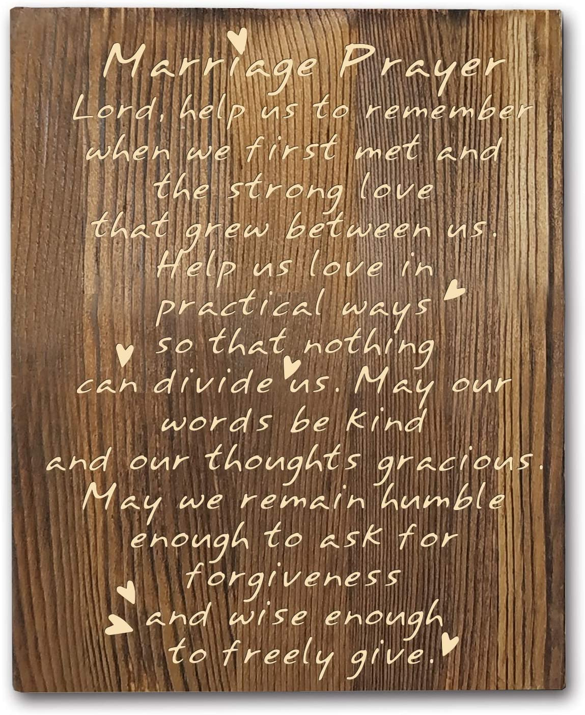Agantree art Marriage Wood Plaque Inspiring Quote, Rustic Classy Vertical Wood Wall Hanging Decoration 8