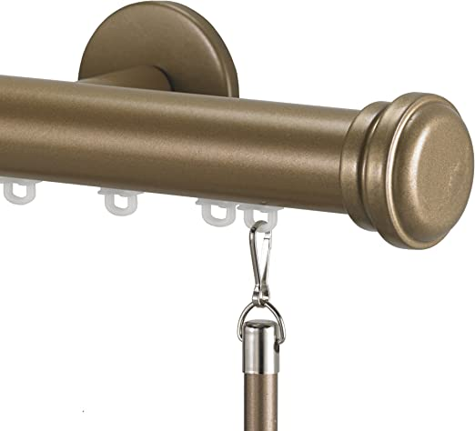 Art Décor Tekno 12 Decorative Traverse Curtain Rod with Empire Finial,  12-Inch, Champagne