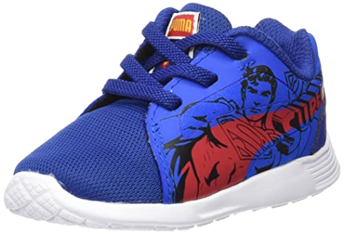 Puma ST Trainer Evo Superman AC Inf, Zapatilla para Niños, Azul (Limoges-High Risk Red 01), 21 EU