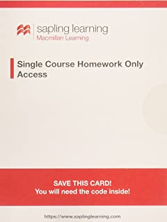 Sapling learning multi course homework only for organic chemistry sapling single course organic chemistry homework six months access fandeluxe Images