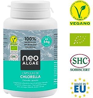 Chlorella en Cápsulas   100% Chlorella Orgánica   Pared Celular Rota: Mejor Asimilación y