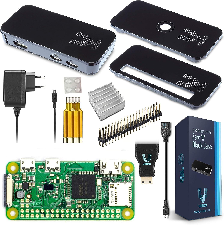V Kits de Raspberry Pi Zero W Basic Kit with Premium Black Case de ...