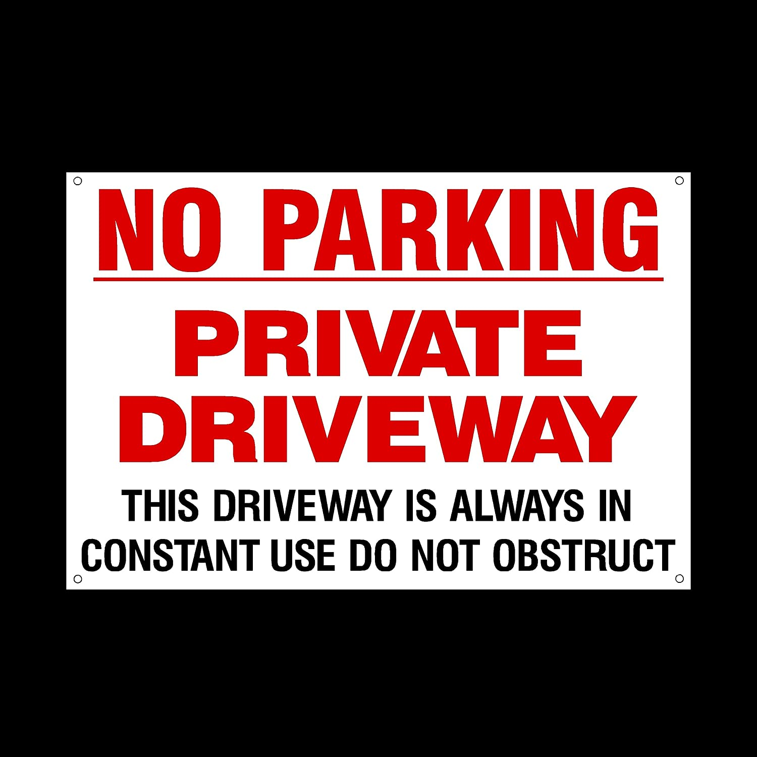 No Parking Private Driveway Do Not Obstruct In Constant Use A5 Sign//Sticker