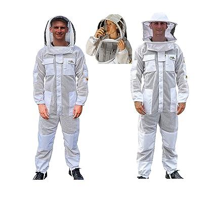 Amazon.com: OZ ARMOUR Traje de apicultura de 3 capas con ...