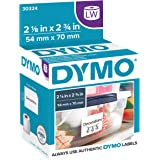 DYMO Authentic LW Large Multi-purpose Labels for LabelWriter Label Printers, White, 2-1/8'' x 2-3/4'', 1 roll of 320…