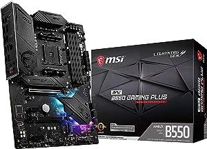 MSI MPG B550 Gaming Plus Gaming Motherboard (AMD AM4, DDR4, PCIe 4.0, SATA 6Gb/s, M.2, USB 3.2 Gen 2, HDMI/DP, ATX) (Renewed)