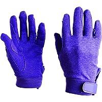 Dublin Childrens/Kids Track Riding Gloves (One Size) (Purple)