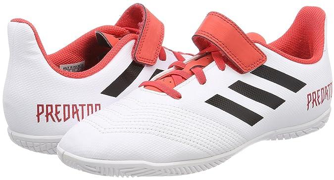 adidas Unisex-Kinder Predator Tango 18.4 in Gymnastikschuhe, Mehrfarbig (FTWR White/Core Black/Real Coral S18), 36 2/3 EU