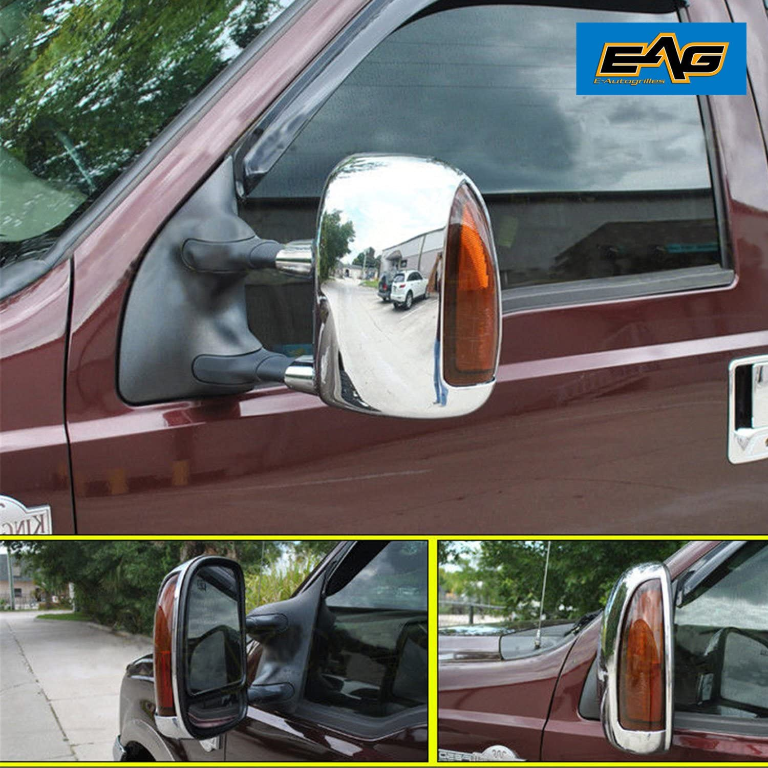 EXCURSION  00-05 CHROME MIRROR COVER FOR FORD F-250//350//450 SUPER DUTY 99~07