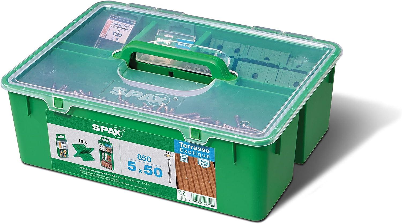Spax Green Box Terrasse Lot de 5 x 50 terrasse pour 25-28m2