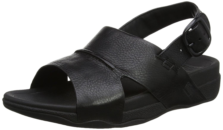 Fitflop Bando Leather Sandals - Sandalias Hombre 43 EU Black (All Black)