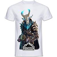 Mavi T-Shirt Stampa Modello Ragnarok FORTNITE!!! Personalizzala con Il Nome Che Vuoi.