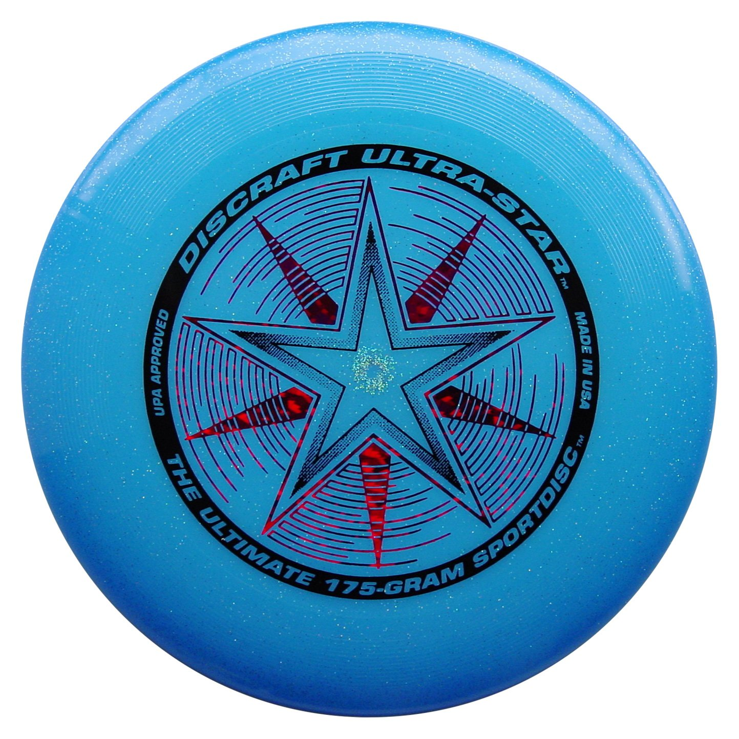 Discraft 175 gram Ultra Star Sport Disc, Blue Sparkle with Deluxe Packaging by Discraft