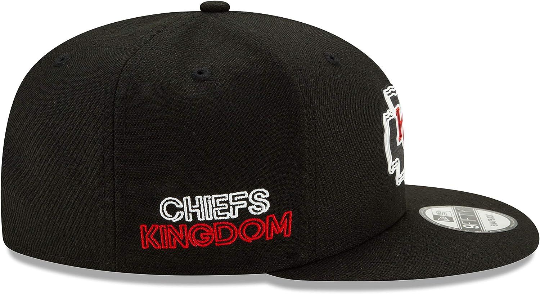 New Era Kansas City Chiefs NFL20 Draft Black 9FIFTY Cap