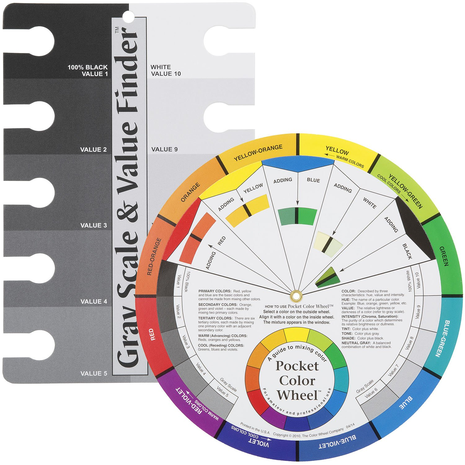 Amazon Color Wheel Pocket Guide With Gray Scale Value Finder