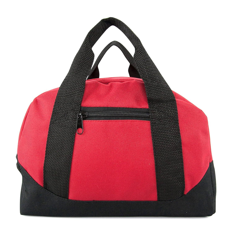 12 Mini Two Tone Duffle Bag DALIX DF-002-Black