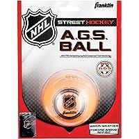 FRANKLIN - AGS Streethockey Ball NHL I Ball für Roller- und Inlinehockey I Outdoor Ball mit Active-Gravity-System I speziell gedämpfte Flüssigkeit im Ballinneren I mittelhart I hitzetauglich - Orange