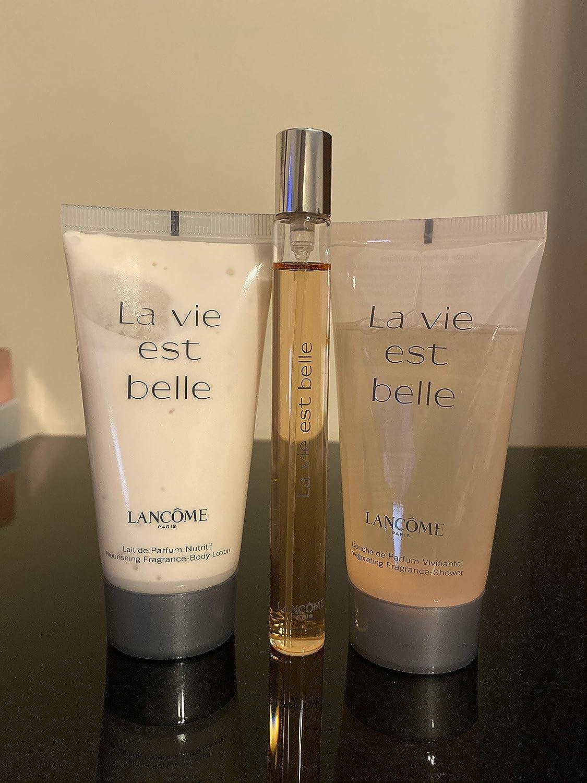 Amazon Com Lancome La Vie Est Belle Perfume Body Lotion Shower Gel Gift Set Beauty