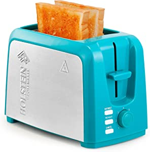 Holstein Housewares 2-Slice Toaster with 7 Browning Levels, Teal